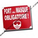 """Panneau """"port du masque obligatoire"""""""